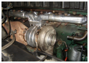 Manifold on Volvo VED 12 - 465